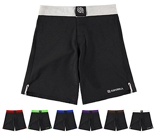 Silber Baggy Shorts (Sanabul Essential MMA BJJ Cross Training Workout Shorts - Silber - 46)