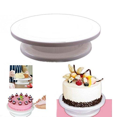OUNONA Plateau Tournant Gateau,Plateau Tournant pour Décoration Gateau Plateau Tournant Rotatif Wedding Cake Stand