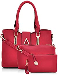 Mark & Keith Women's Handbag With Sling Bag & Pouch (Maroon,Mbg 0419 Mrn)