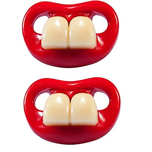 Chupete silicona divertido dientes conejo Forma infantil