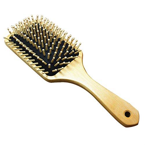 Grande Brosse à cheveux plate en bois 25,4 cm Peigne à cheveux Soins Spa Massage Peigne antistatique
