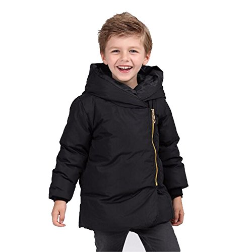 CRAVOG Daunenjacke Kinder Winterjacke mit Fellkapuze Kinderjacke Jungen Mädchen Verdickte Lang Jacket Wintermantel Mantel Parka Outerwear Oberbekleidung Winter Kleidung