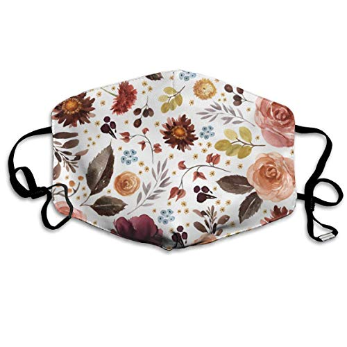 Masken, Masken für Erwachsene,Face Mask Reusable, Warm Windproof Mouth Mask, Boone Fall Florals White Reusable Anti Dust Face Mouth Cover Mask Protective Breath Healthy Safety
