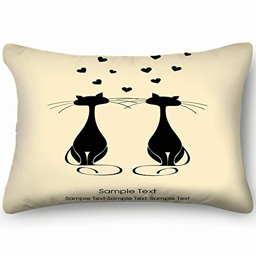 nimals wildlife cat Animals Wildlife industrial cat Industrial Skin Cool Super Soft and Luxury Pillow Cases Covers Sofa Bed Throw Pillow Cover with Envelope Closure 20*30 inch ()