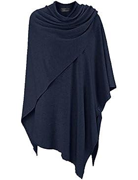 Poncho-Schal mit Kaschmir - Hochwertiges Cape für Damen - XXL Umhängetuch und Tunika mit Ärmel - Strick-Pullover...