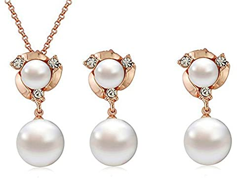 SaySure01 - Design stone pearl jewelry set for women