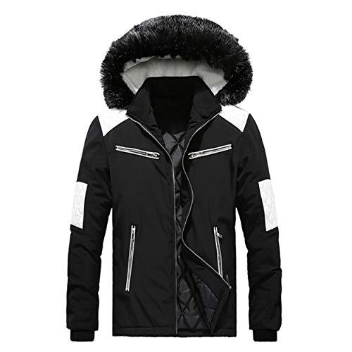 Bellelove Hommes À Manches Longues Doudoune Homme Garçon d'hiver Manteau Camouflage Blouse Épaississement Manteau Pull Outwear Top Blouse (EU 42 / Asie 2XL, Noir3(Kurz))