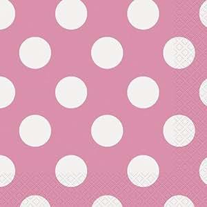 Unique Industries Serviette repas 16/Pkg-Hot Pink Dots décoratifs