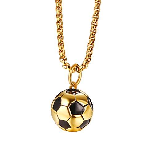 Baoblaze Fußball form Anhänger Halskette Lang Hals kette, Modisches Accessoires für Mädchen Jungen