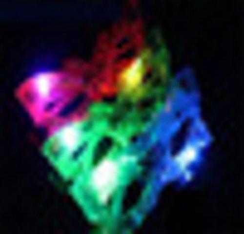 Bunte LED-Blitz Gläser Kinderbrille Schmetterling, oder als oder als Halloween Maske