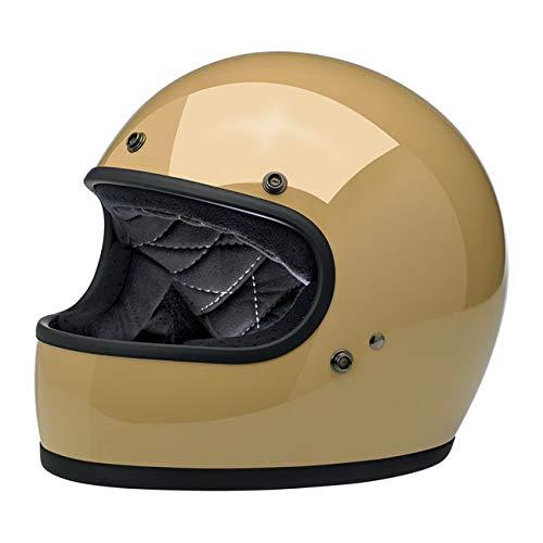 Casco Integrale Gringo Biltwell Gloss Coyote Tan OMOLOGATO Doppia OMOLOGAZIONE ECE (Europa) & DOT (America) Helmet Biker Custom Vintage Retrò Anno 70 Taglia L