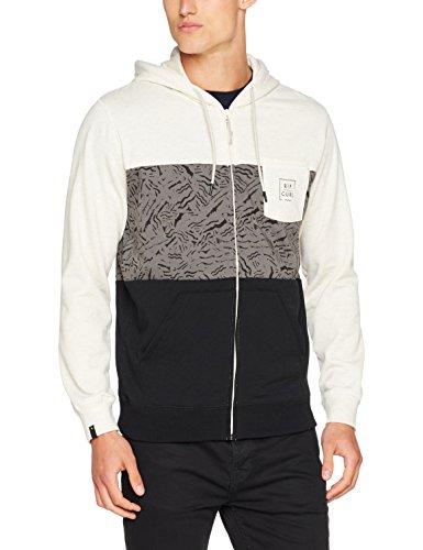 Rip Curl Broken Square Fleece, Kapuzen-Sweatshirt für Männer, Elfenbein (Bone Marle), XL (Zip Hoody Lined Full)