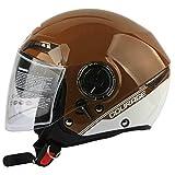 Mdsfe Half Hood Double Lens Motorradhelm Marseille Personalisierter Helm Kollisionshelm...