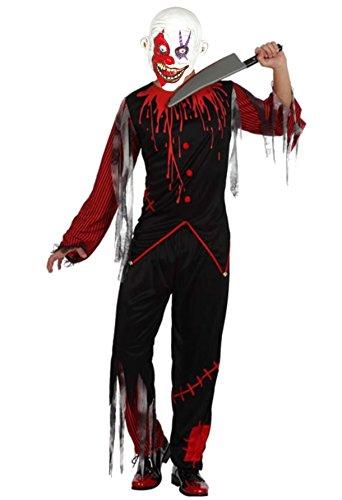 Imagen de disfraz de payaso asesino negro  l