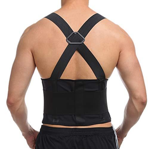 INSTINNCT Hochwertiger Rückenstützgurt Industriegurt Rückenbandage Schulter Rücken Rückengurtverstellbar für Arbeitsschutz entlastet die Rückenmuskulatur und zur HaltungskorrekturDamen Herren M