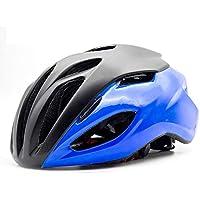 EP-Helmet Casco De La Bici De Montaña, Casco Neumático, Negro Y Azul