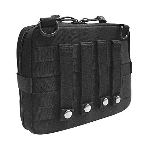 Gazechimp Molle Beutel Pouch Rucksack Zusätzlicher Packsack Stausack Sportrucksack Zusatztaschen Schwarz