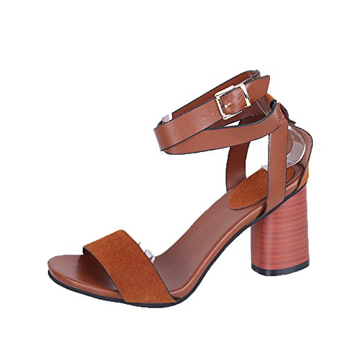 FeiBeauty Ankle Strap Heels Damen Sandalen Sommer Schuhe Chunky High Heels Party Sandalen Damen Pumps elegant mit Blockabsatz & Fesselriemchen