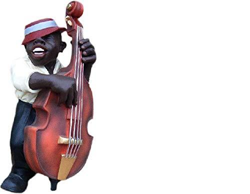 JV Moebel Design Kontrabaß Figur Statue Skulptur Figuren Skulpturen Dekoration 4015 Neu