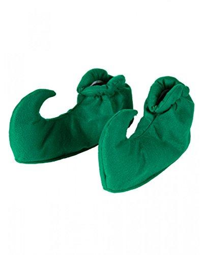 erg & Elf Schuhüberziehen Grün als Kostümzubehör für Fasching (Elf Kostüm)