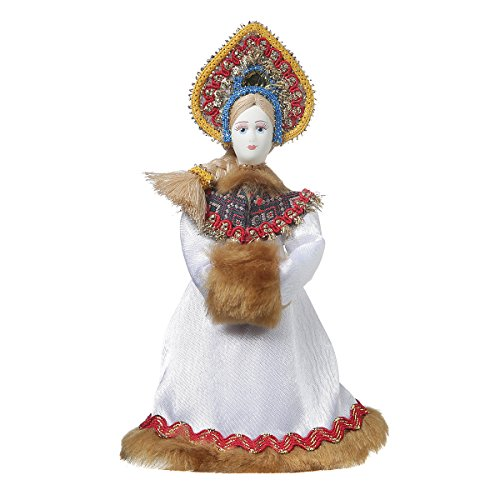 danila-souvenirs Russische handgemachte Porzellan Traditionelle Volkskostüm Puppe 18,5 cm ()