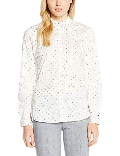 Tommy Hilfiger Karissa Shirt Ls W2, Blouse Femme Weiß (CLARA PRT MINI SNOW WHITE/NAVY BLAZER 198)