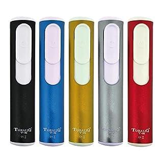 amara-global T-8 USB Elektro Feuerzeug Glühspirale Winddicht Aufladbar Zigaretten-Anzünder (ROT)