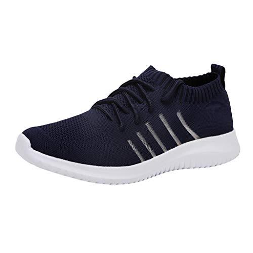 feiXIANG Herren Fitnessschuhe Schuhe Sportschuhe Barfußschuhe Traillaufschuhe Laufschuhe Sneaker (Blau,39)