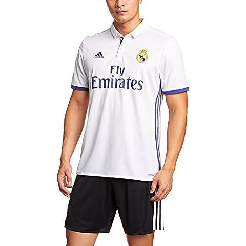 1ª Equipación Real Madrid CF 2016/2017 - Camiseta oficial para hombre adidas, color blanco, talla