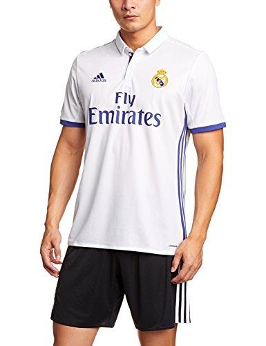 1ª Equipación Real Madrid CF 2016/2017 - Camiseta oficial para hombre adidas, color blanco, talla M