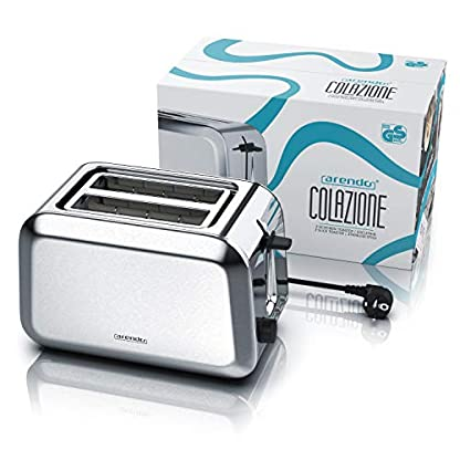 Arendo-Automatik-Toaster-Edelstahl-gebrstet-2-Scheiben-Defrost-Funktion-Wrmeisolierendes-Doppelwandgehuse-GS-zertifiziert