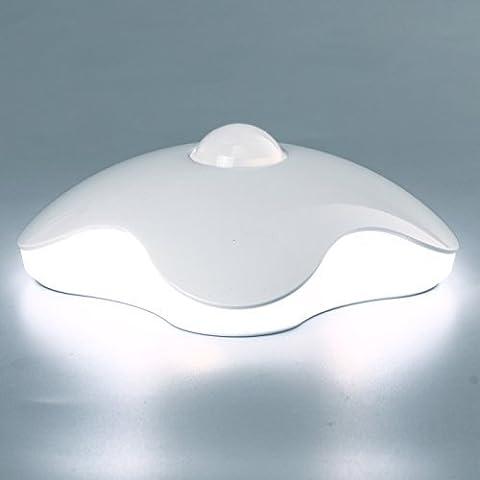 Capteur de mouvement Night Light, sans fil Nightlight Clover Style Night Lamp For Kids, idéal pour couloir, placard, escalier, salle de bain, chambre à coucher, cuisine blanc