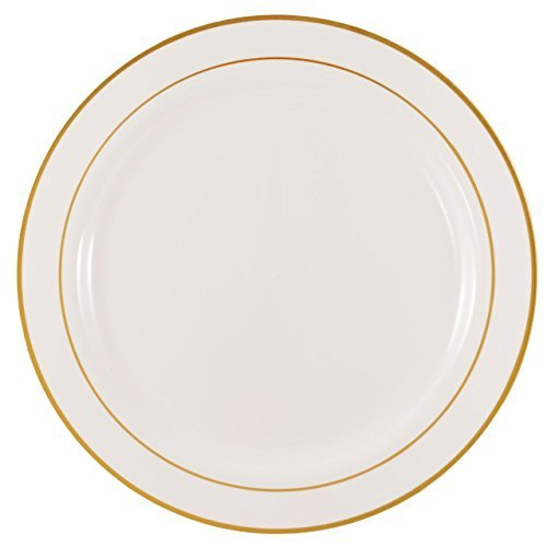 the-kaya-collection-9-elegant-white-and-gold-plastic-round-plate-10-count-by-kaya-collection