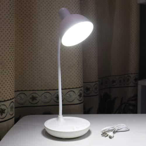 Neue usb lade runde lagerung schlafzimmer nachttischlampe student schlafsaal schreibtisch led lesen auge tischlampe 589 weiße runde lampe 11 * 14 * 41 cm