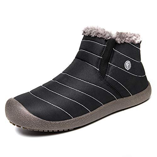 FHCGMX Nouveau Chaud Chaussures d'hiver Hommes Plus La Taille 38-48 Étanche Hommes Bottes Designer Cheville Neige Pluie Bottes d'hiver Hommes