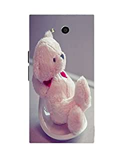 Case Cover Teddy Bear Printed Pink Soft Silicon Back Cover For LYF Wind 4