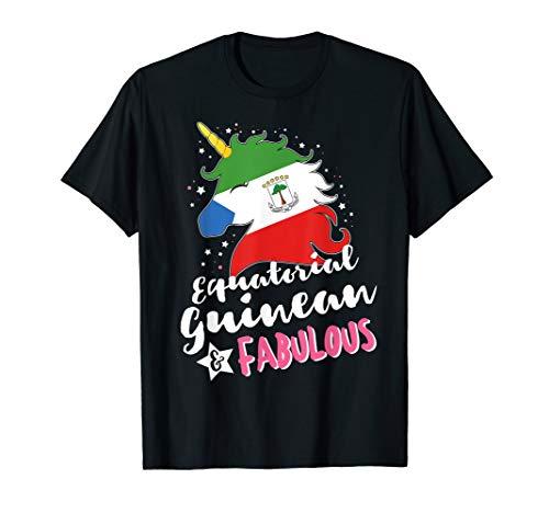 Equatorial Guinean Unicorn Equatorial Guinea Flag T-Shirt -