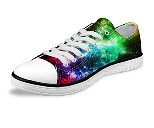 Galaxy Designs Mens Low Tops Sneakers Canvas Shoes Casual Lace up Walking Loafer 7 Green 8