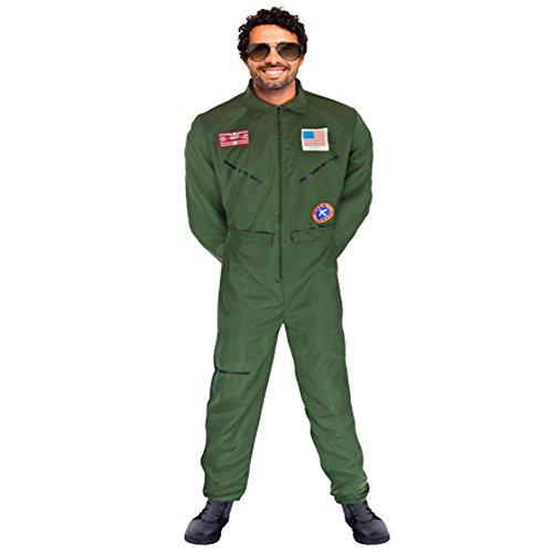 Outfit Gun Top Damen (JetPilot Kostüm Kampfjet Overall S - XXXL Fliegeranzug)
