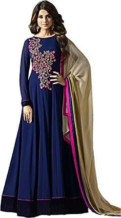 DREAM UP FASHION Anarkali Gown (BLUE)