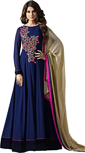 DREAM UP FASHION Anarkali Gown (BLUE)