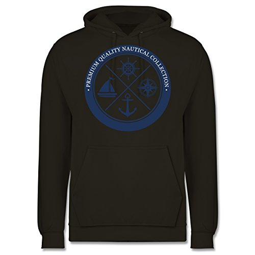 Schiffe - Premium Quality Nautical Collection Sailing - Männer Premium Kapuzenpullover / Hoodie Olivgrün