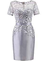 54a00994f428 La Vogue-Halloween Lace Slim Abito da Sera Donna Pizzo Vestito