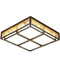 Luces de techo- Lámpara de Techo Chino Larga Lámpara Simple Comida Cuadrada Lámpara Antigua Sala