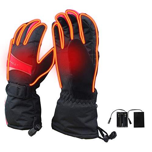 wonderday Guanti Caldi riscaldati in Inverno, Guanti Ricaricabili USB, Guanti riscaldanti elettrici a Batteria, Guanti Termici per Lo Sci motociclistico all'aperto