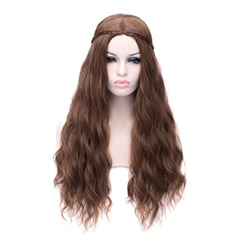 Baisheng Ein Lied von Eis und Feuer Margaery Tyrell Brown lange lockige Welle Prinzessin Style Anime Cosplay Partei volle Haar Perücken (70cm ()