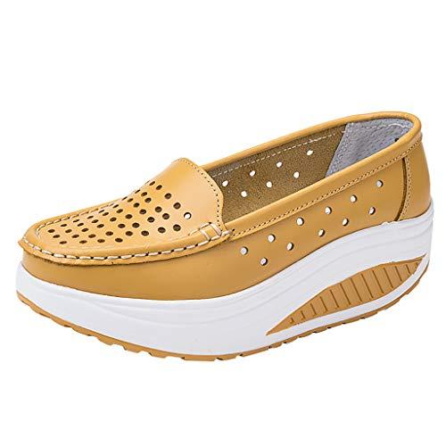 Ears Frauen Casual Wedge Schuhe Comfort Platform Loafers Dicke Bottom Shake Schuhe Atmungsaktiv Turnschuhe Outdoor Schuhe Bequem Leichte Schuhe Outdoorschuhe Trainers Running Boots -