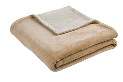 biederlack Island Decke, Polyester, Camel, für französisches Bett, 200x 150cm