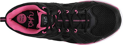 Ryka Womens Divine Training Shoe Black/Athena Pink/Frost Grey