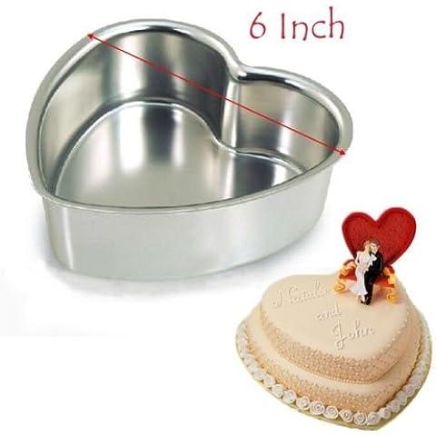 Cuore pan fondente stampo per decorare cupcake latta torte in alluminio